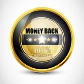 100% Guaranteed Money Back Button — Stock Vector