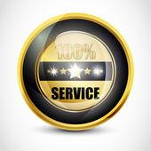 100% Service Button — Vecteur