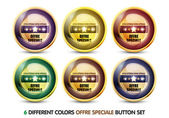 Colorful Offre Speciale button Set — Stock Vector