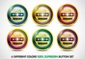 Colorful 100% zufirieden button Set — Vecteur