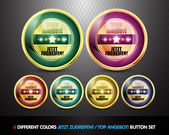 Colorful Top Angebot! Button set — Vector de stock
