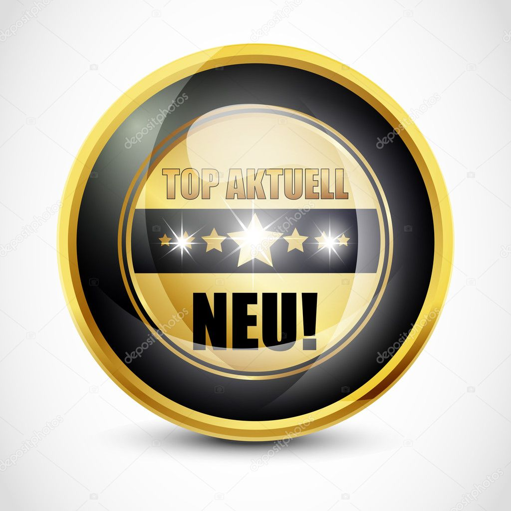 Top Aktuell 'Neu' Button vector illustration — Stock Vector #9812577