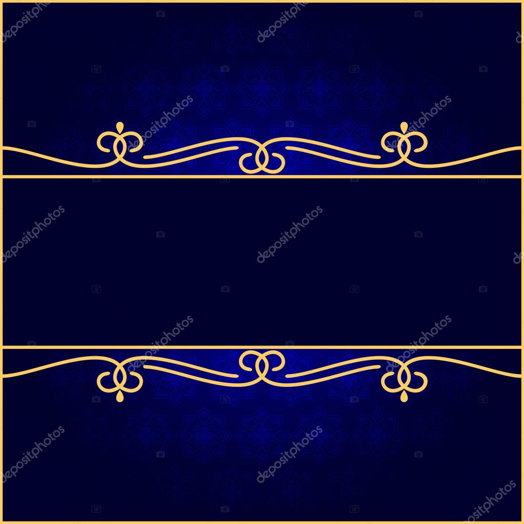 Dark vintage background. Background of darkly dark blue color. EPS-8. — Stock Vector #10407242