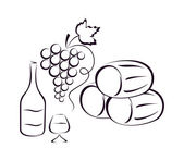 Wine composition. — Stock Vector