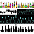 Alcohol assortment. — Stock Vector