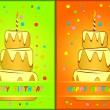 Greeting card happy birthday. — Stock Vector