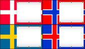 Denmark, Norway, Sweden, Iceland. — Stock Vector