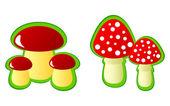 Mushrooms. — Stock Vector