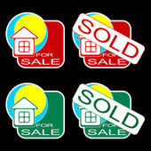 House for sale. — Stock Vector