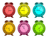 Multicolored watches. — Stock Vector