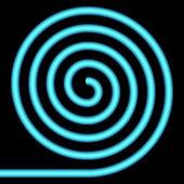Blauwe spiraal. — Stockvector