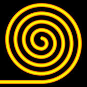 Yellow spiral. — Stockvektor