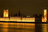 Big Ben at night London UK — Stock Photo