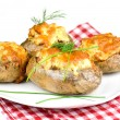 Stock Photo: Stuffed potatoes