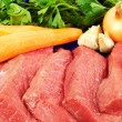 Fresh vegetables and beef — Stockfoto #10549698