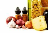 épice, fromage et légumes frais — Photo