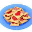 Cookies with red heart — Stock Photo #9455056