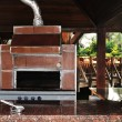 Outdoor cooking stove — Stock Photo #9799404