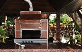 Outdoor cooking stove — Stock Photo