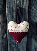 Heart on the wood background — Stock Photo