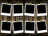 8 polaroid frames — Stock Photo