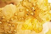 Wonderful Wedding vase with gold decoration — Stock Photo