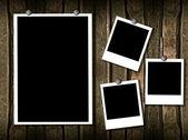 4 polaroid frames — Stock Photo