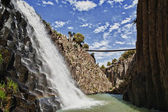 Waterfall at basaltic prism canyon at Hidalgo, Mexico — Stock Photo