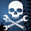 Skull with wrenches — Stock Vector #7981437