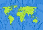 Carte du monde — Vecteur