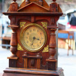 Stock Photo: Wooden clock