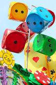 Colored paper mache says — Stock Photo
