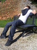 Man resting — Stock Photo