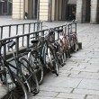 Bicycle parked — Stock Photo
