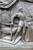 Iron ancient statue — Stock Photo
