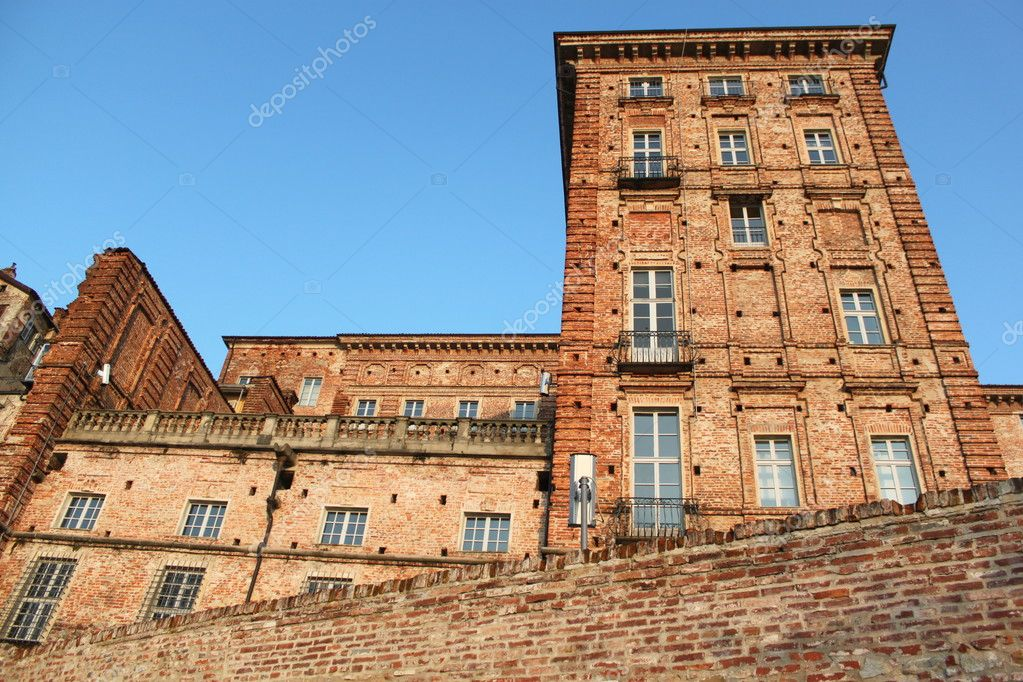 Urban building in turin italy with landscape in the city  — Stock Photo #9713183