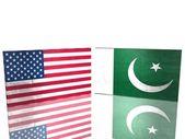 Flagi Usa i pakistan — Zdjęcie stockowe