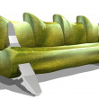 Green sofa — Stock Photo #9718103