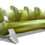 Green sofa — Stock Photo
