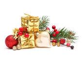 Christmas gift isolated on white background — Stock Photo