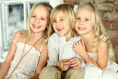 Happy children - kids friends — Stockfoto
