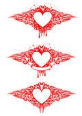 Сердце с узорами — Cтоковый вектор