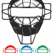 Royalty-Free Stock Vector Image: Baseball mask