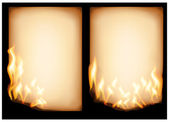 Burning old paper — Stock Vector