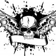 Stock Vector: Skull with wings 4