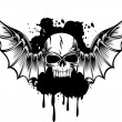Royalty-Free Stock Vector Image: Skull with wings 4
