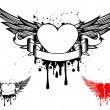 Wings and heart - Stock Vector