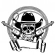 Royalty-Free Stock Vector Image: Cowboy and two pistols