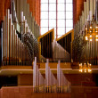 Old organ in christian church — Stock Photo