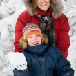Winter. Parenthood — Stockfoto #10166163
